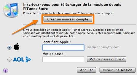 créer apple id
