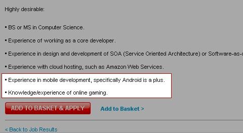 playstation-android-job-listing