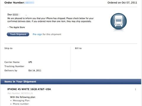 livraisons précommandes iPhone 4S