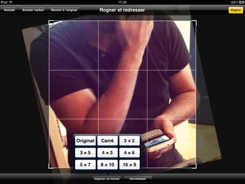 iOS 5 rognage photo
