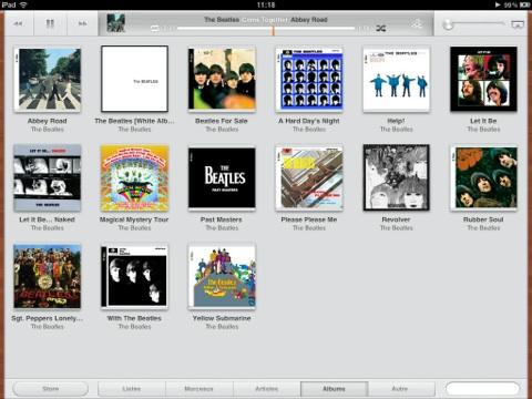 iOS 5 musique iPad