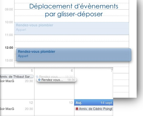 iOS 5 ipad calendrier