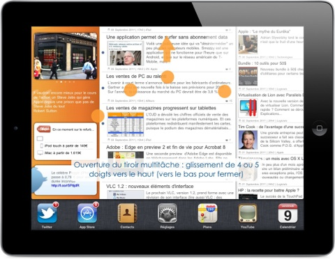 gestes multitâche iPad iOS 5