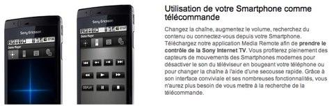 sony smartphone télécommande