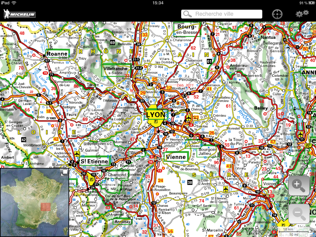 carte routière michelin france Carte Michelin France 2011 : un atlas routier pour iPad | iGeneration