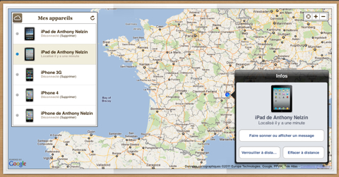 comment je localiser mon iphone