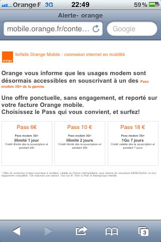 partage connexion orange