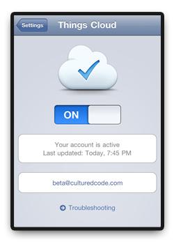 Things cloud sync iOS