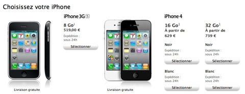 gamme iPhone