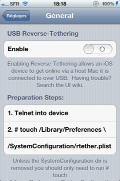 usb reversed tethering