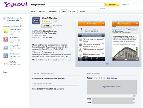 Yahoo aps