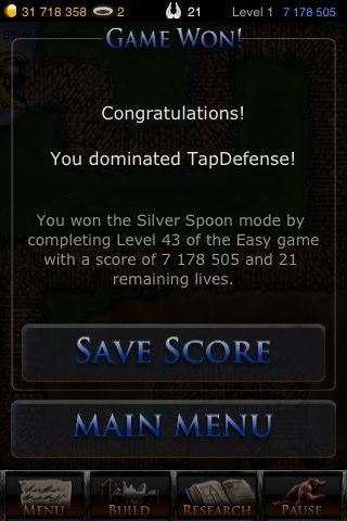 Tap Defense mode Silver Spoon